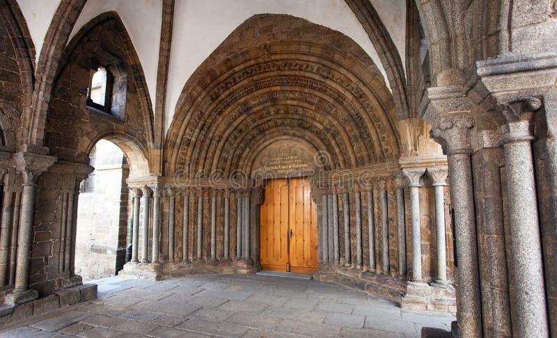 Gotiskt basilikahelgon Procopius i Trebic, UNESCOplats arkivbilder