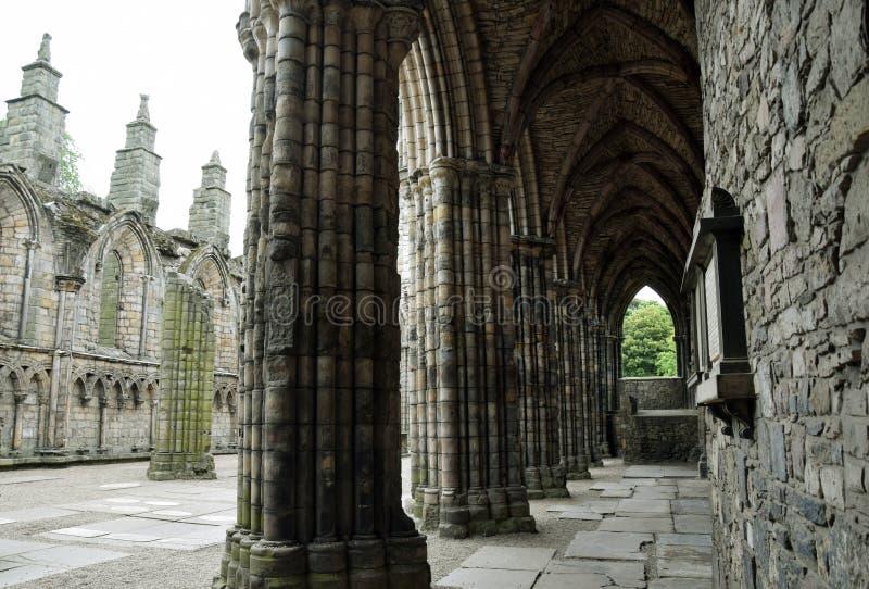 Gotiskt fördärva - den Holyrood abbotskloster fotografering för bildbyråer