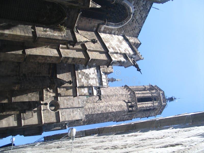 gotiskt gammalt för barcelona domkyrka royaltyfria foton