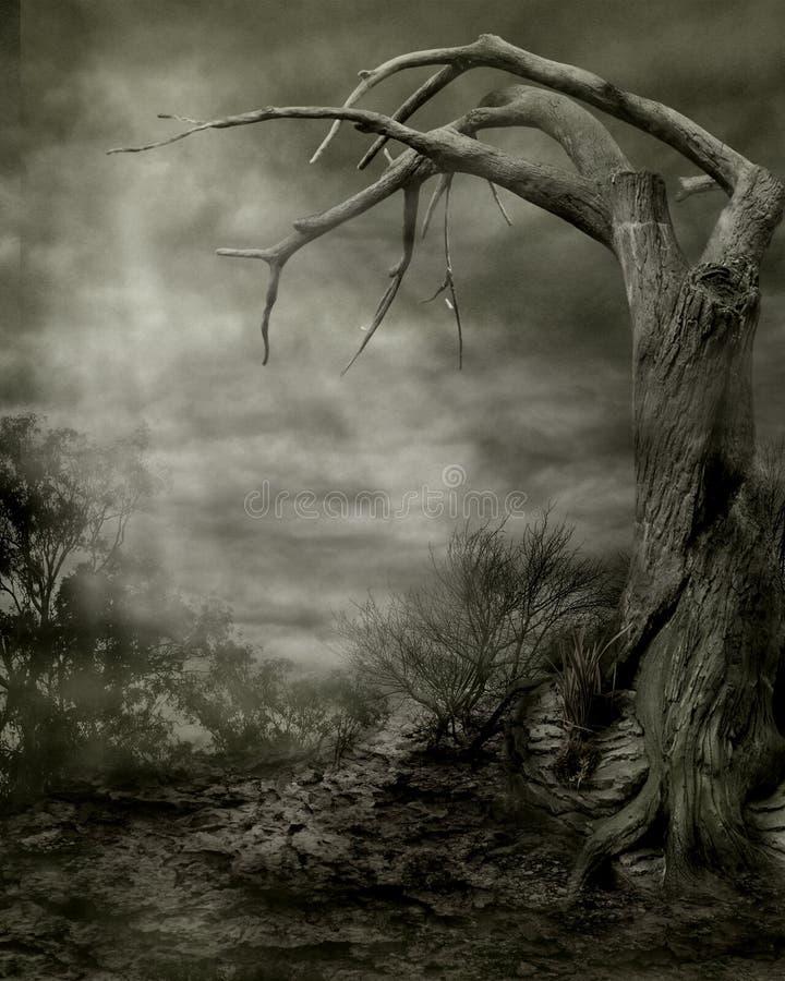 gotiskt landskap 06 stock illustrationer