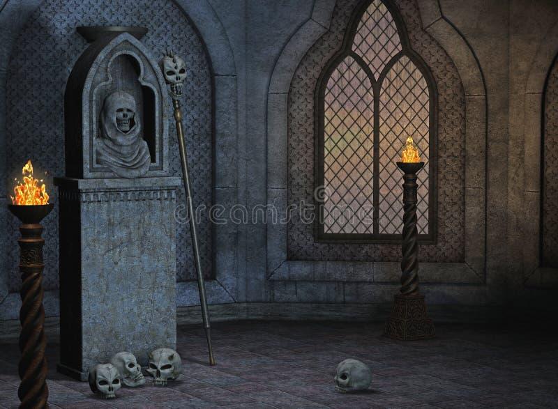 gotiskt landskap royaltyfri illustrationer