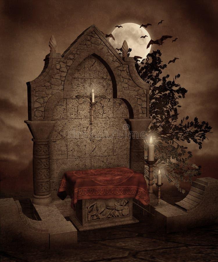 gotiskt landskap 42 stock illustrationer