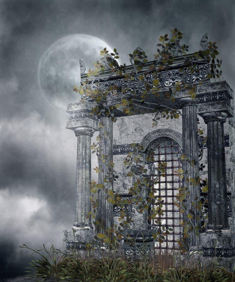 gotiskt landskap 79 royaltyfri illustrationer