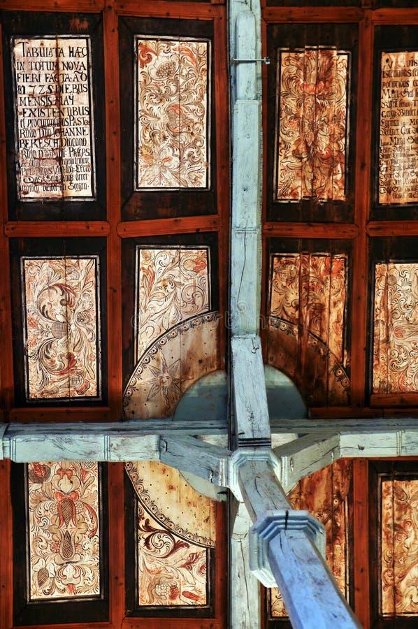 Gotiskt tak i Transylvania arkivfoto