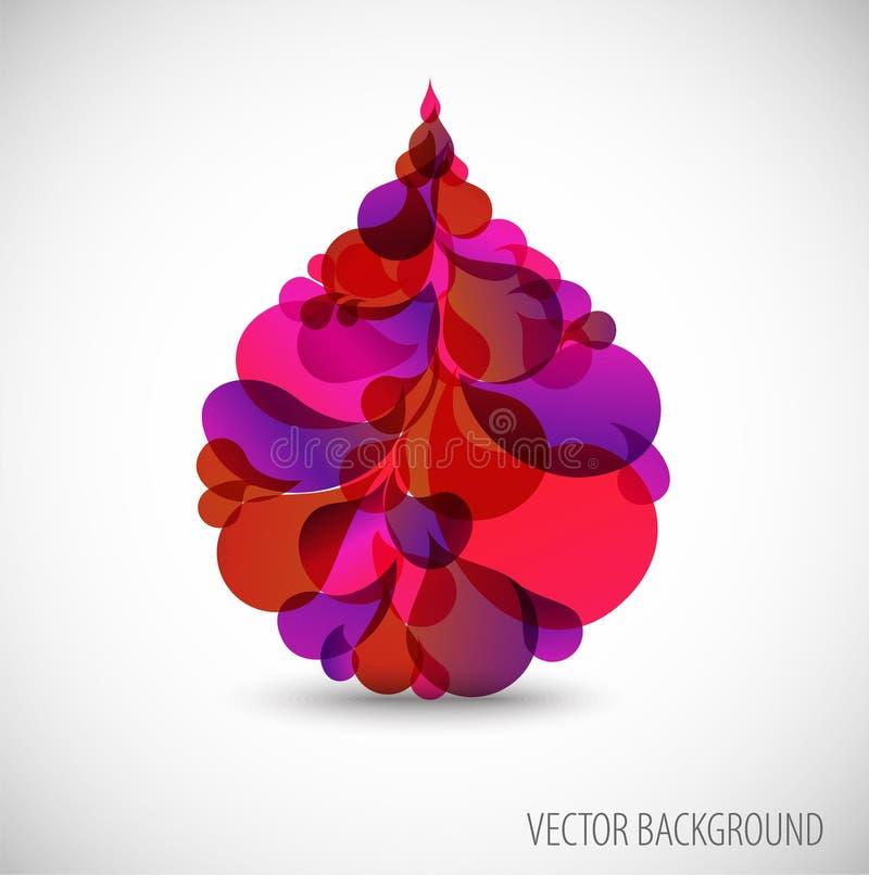 Gotita abstracta de la sangre ilustración del vector
