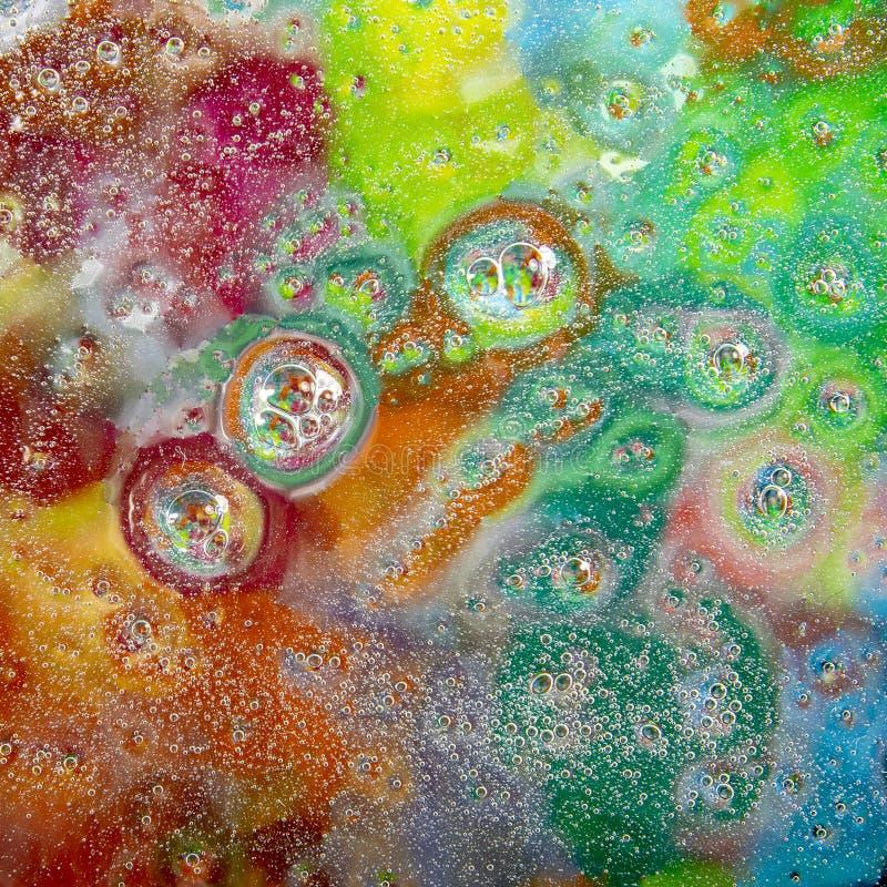 Gotitas de agua sobre el vidrio fotografía de archivo
