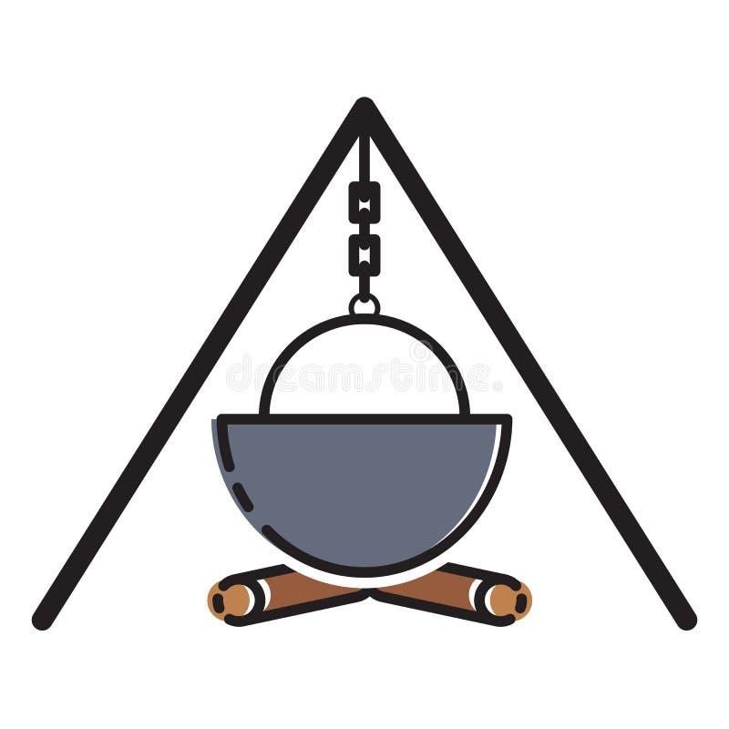 Gotować w naturze target39_1_ Odpoczynek w drewnach ilustracyjny nowożytny wektor ()- Wektor kartoteka ilustracji