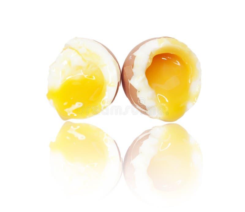 gotowana jajeczna miękka część obraz royalty free