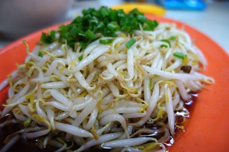 Gotowane bobowe flance z soya źródłem zdjęcia stock