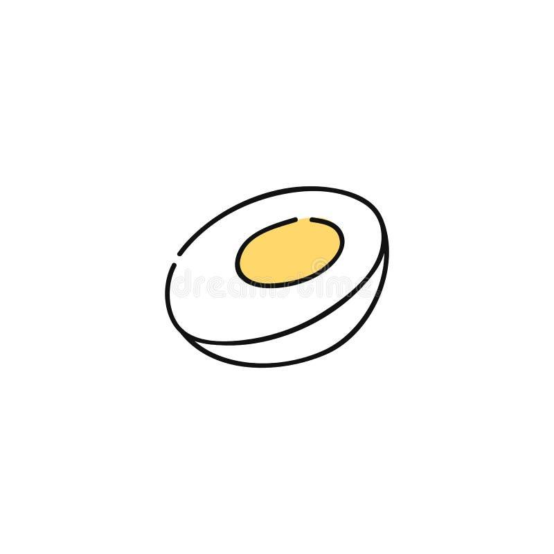 Gotowanego kurczaka jajeczna pociągany ręcznie ikona ilustracja wektor