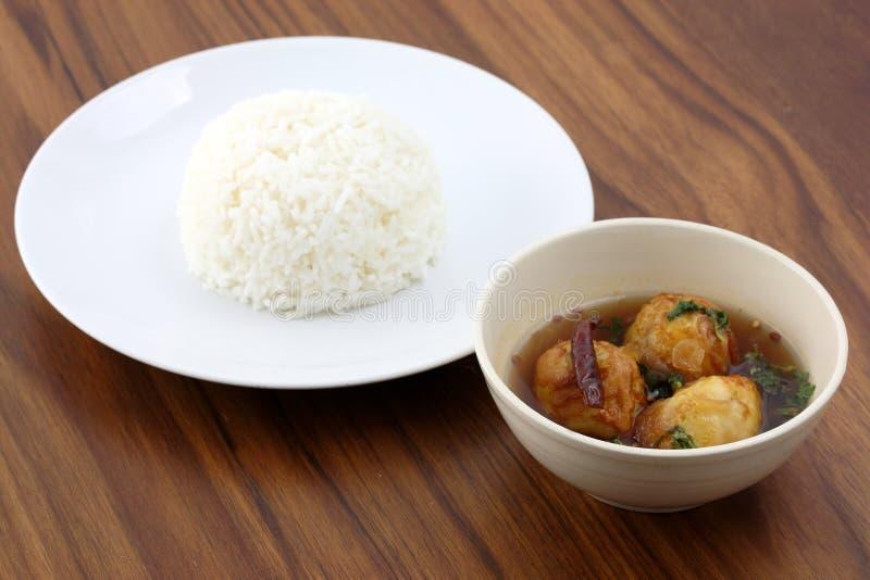 gotowany jajeczny jedzenie smażąca kumberlandu tamarynda tajlandzka zdjęcie stock