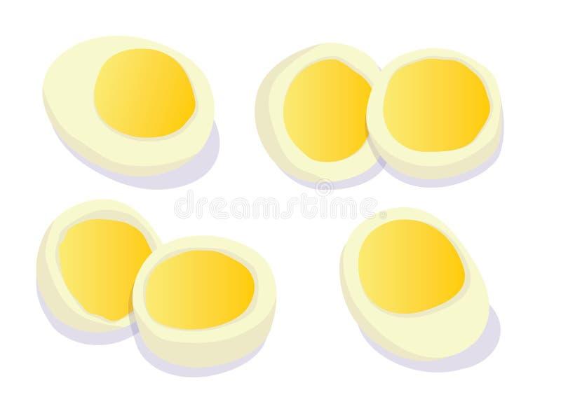 Gotowany jajko na Białej tło ilustracji royalty ilustracja