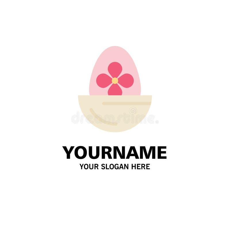 Gotowany, Gotowany jajko, wielkanoc, jajko, Karmowy Biznesowy logo szablon p?aski kolor ilustracja wektor
