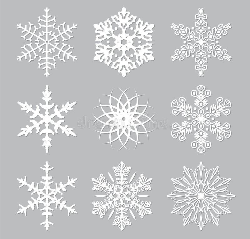 gotowe płatki śniegu ilustracja wektor