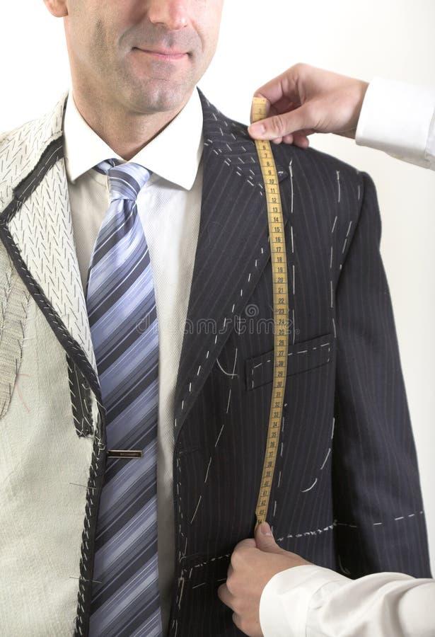 Gotowy, elegancki krawczyna robić kostium, obrazy royalty free