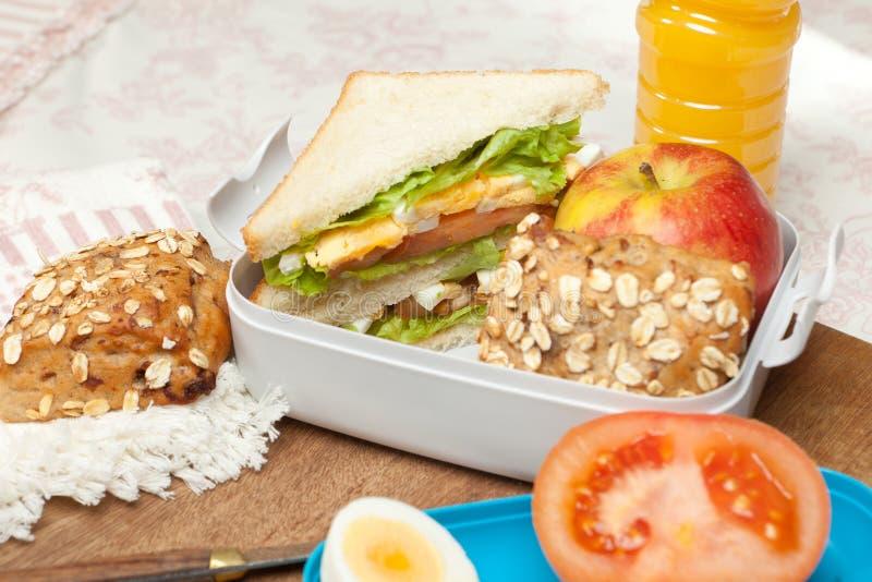 Gotowy lunchbox zdjęcia stock