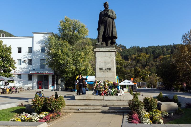 Gotse Delchev monument at The Center of town of Blagoevgrad, Bulgaria royalty free stock photography
