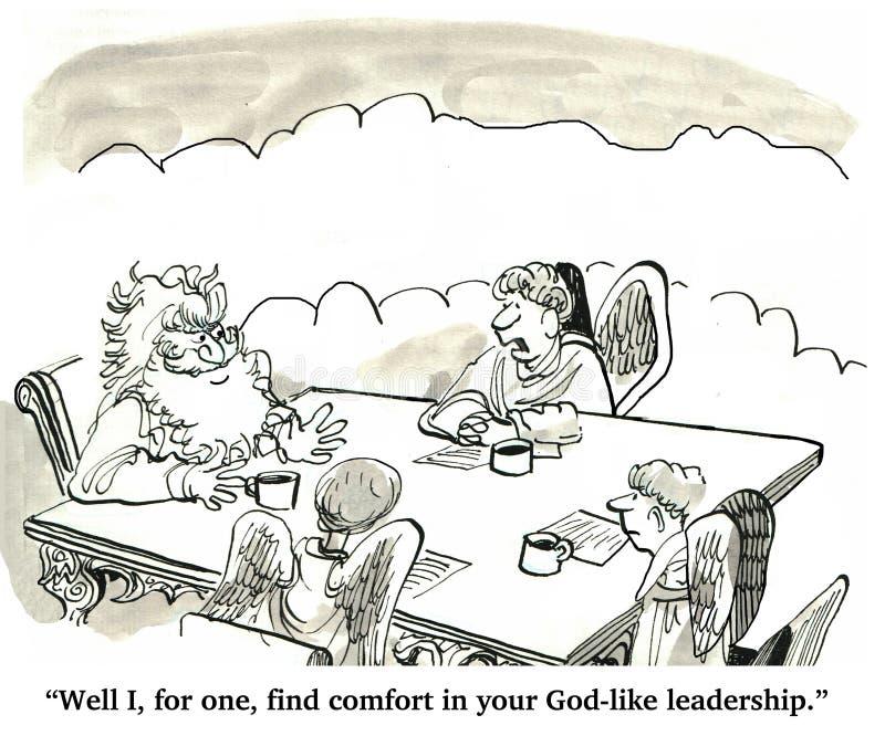 Gott ähnliche Führung lizenzfreie abbildung