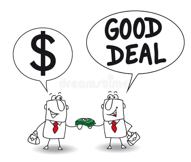 gott avtal stock illustrationer