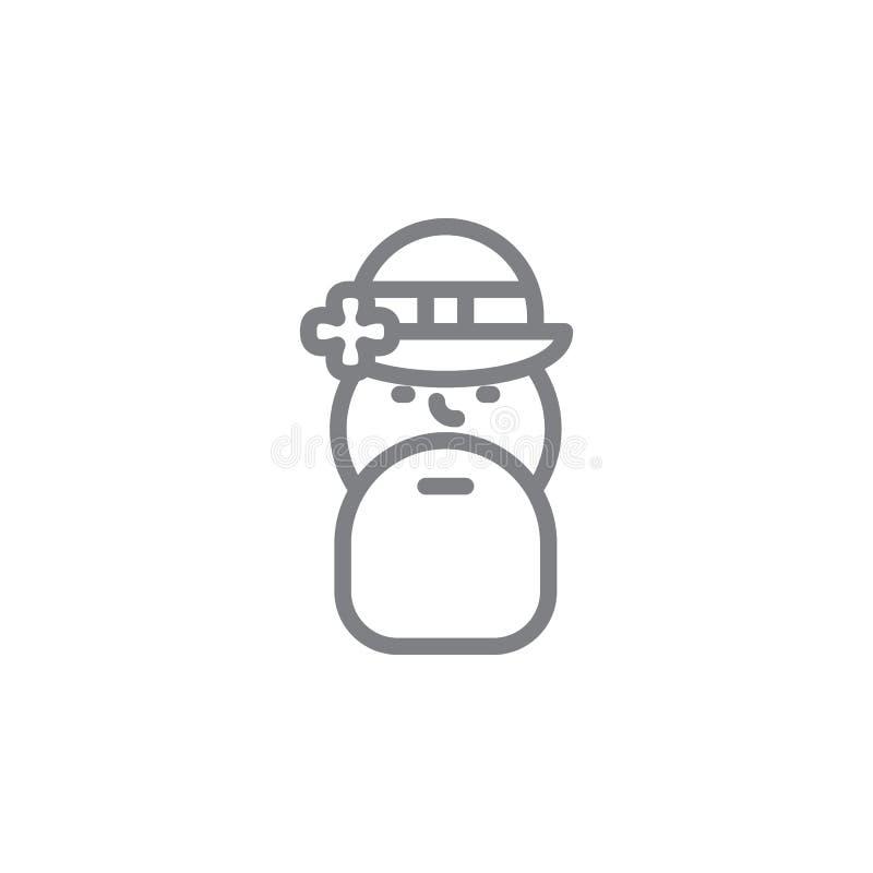 Gott-Ikone Element von myphology Ikone D?nne Linie Ikone f?r Websitedesign und Entwicklung, APP-Entwicklung Erstklassige Ikone lizenzfreie abbildung