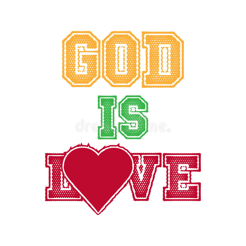 Gott ist Liebe lizenzfreie abbildung