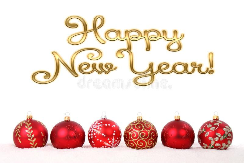 Gott nytt årskort Vackra gratulationer - bakgrund royaltyfri bild