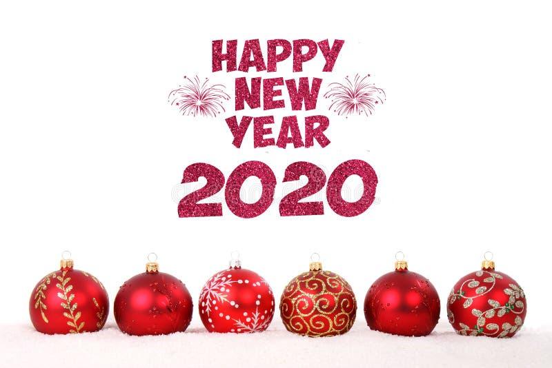Gott nytt årskort 2020 fotografering för bildbyråer