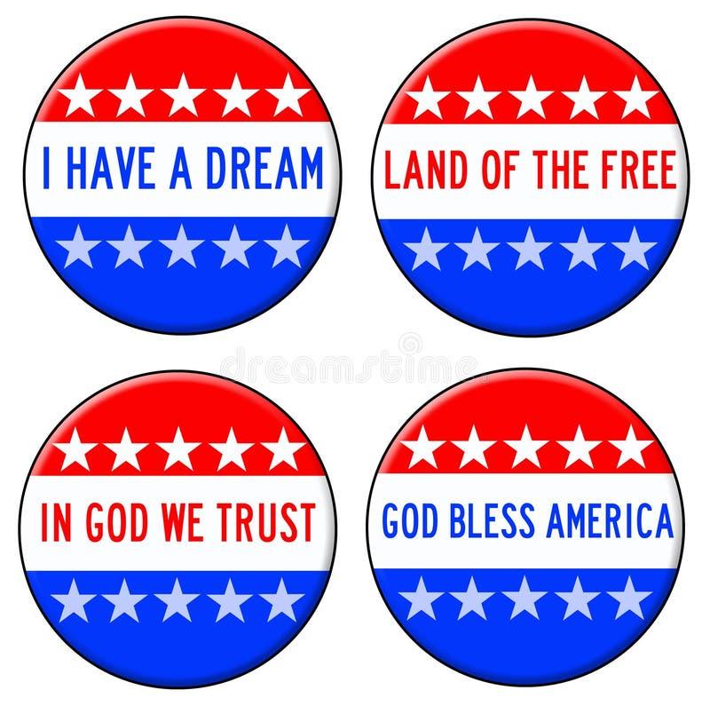 Gott segnen Amerika lizenzfreie abbildung