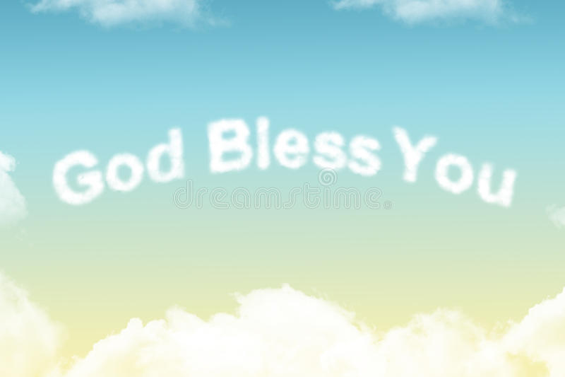 Gott segnen Sie - Wolkenwort lizenzfreie stockfotografie