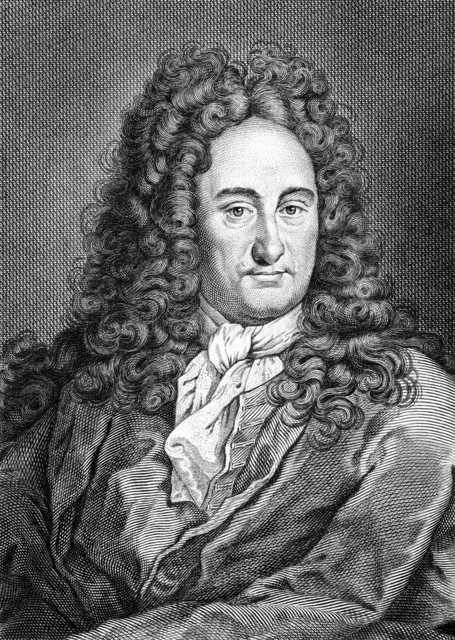 Gottfried Leibniz royalty ilustracja