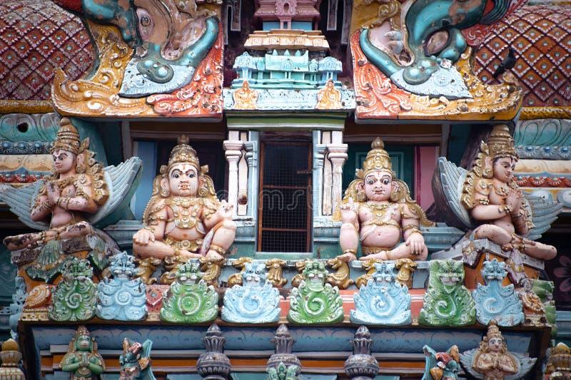 Gottpantheon am hindischen Tempel Zustand des Tamil Nadu lizenzfreie stockfotos