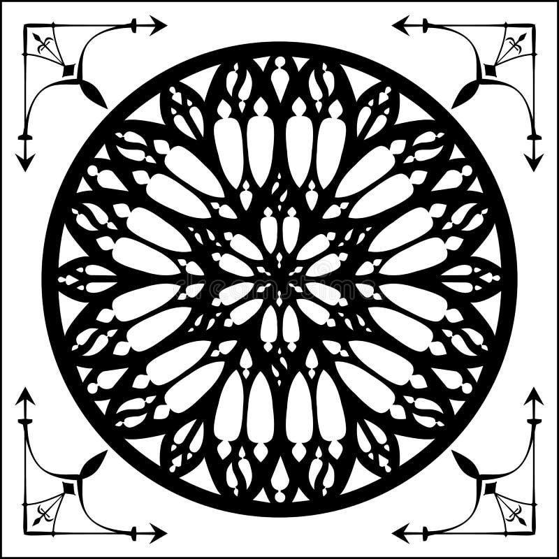 Gotyk wzrastał, gothic architektury element ilustracja wektor