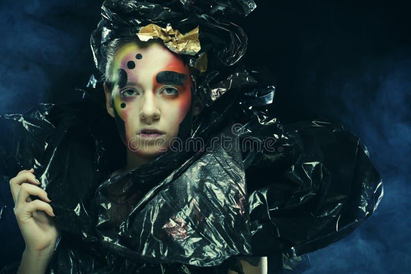 Gotyka ciemny Pi?kny przyj?cie princess Halloween przyj?cie z bliska zdjęcie stock
