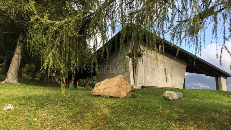 Gotyka dom w górach obrazy royalty free