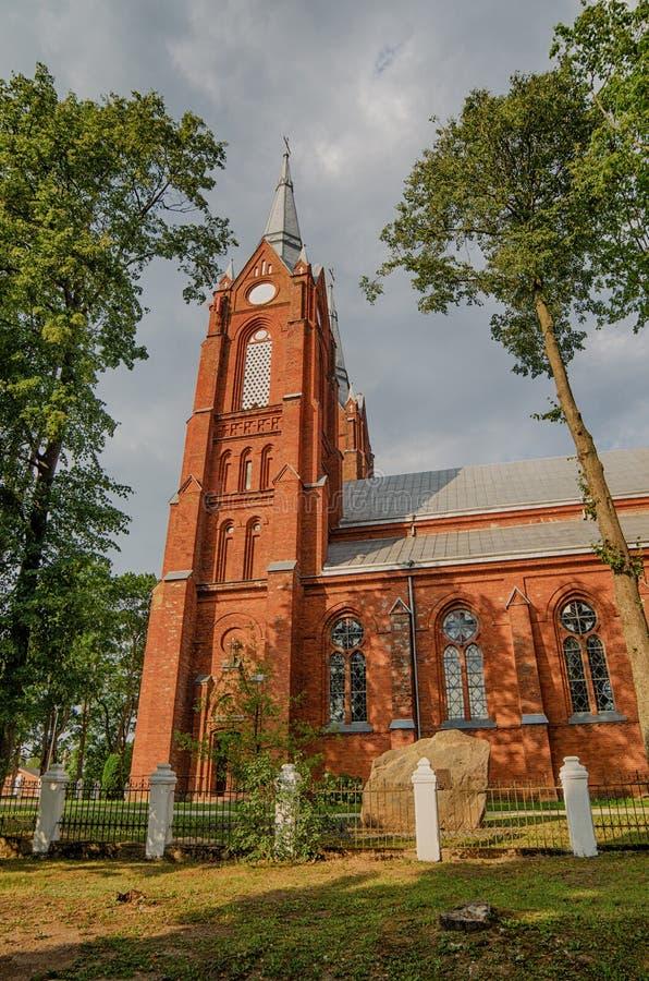 Gotyka kościół katolicki w Vilkija obraz royalty free