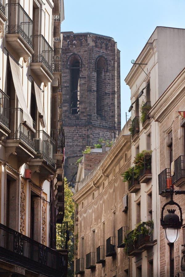 Gotyka wierza, Barcelona katedra (Hiszpania) fotografia royalty free