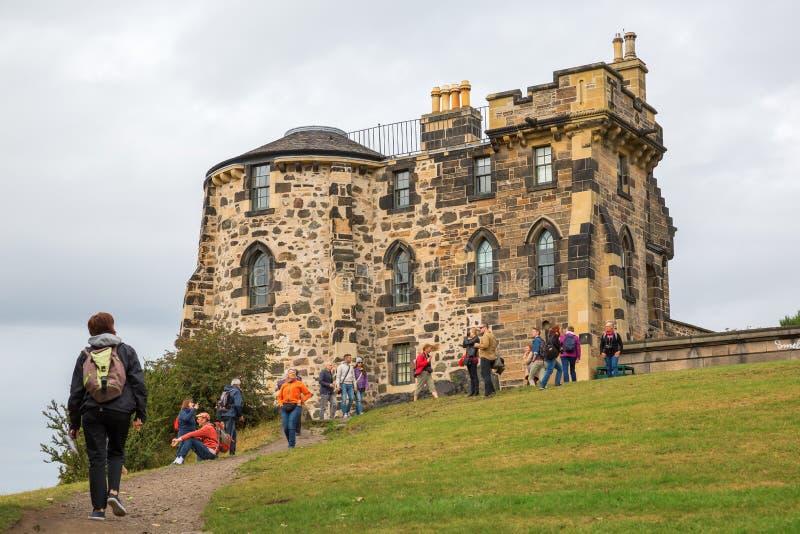 Gotyka wierza na Calton wzgórzu w Edynburg zdjęcie stock