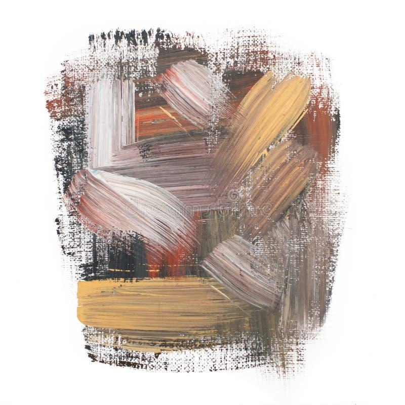 Gouache acrylic art paint brush rough dab stroke. Art paint brush rough dab stroke texture spot blotch stock photo