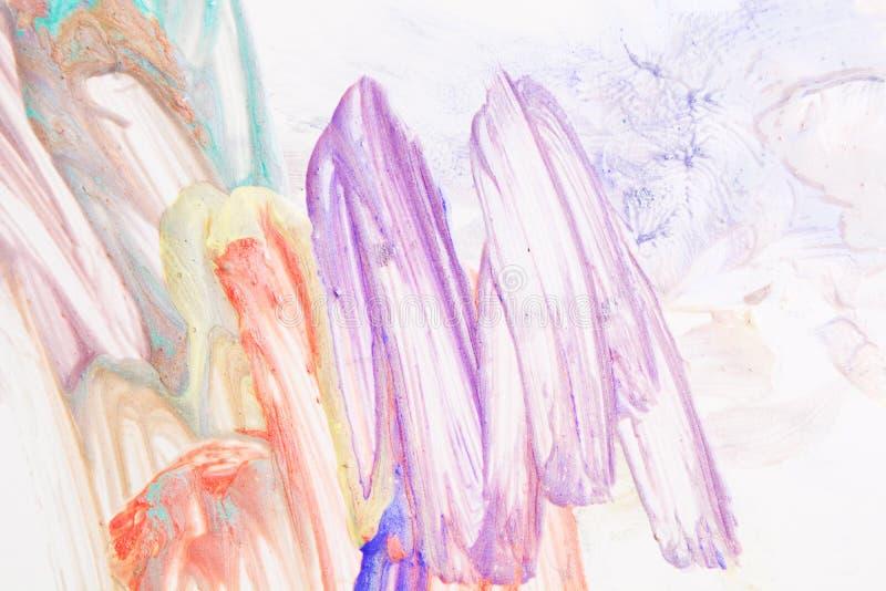 Gouache colorful handmde art design on paper royalty free stock image