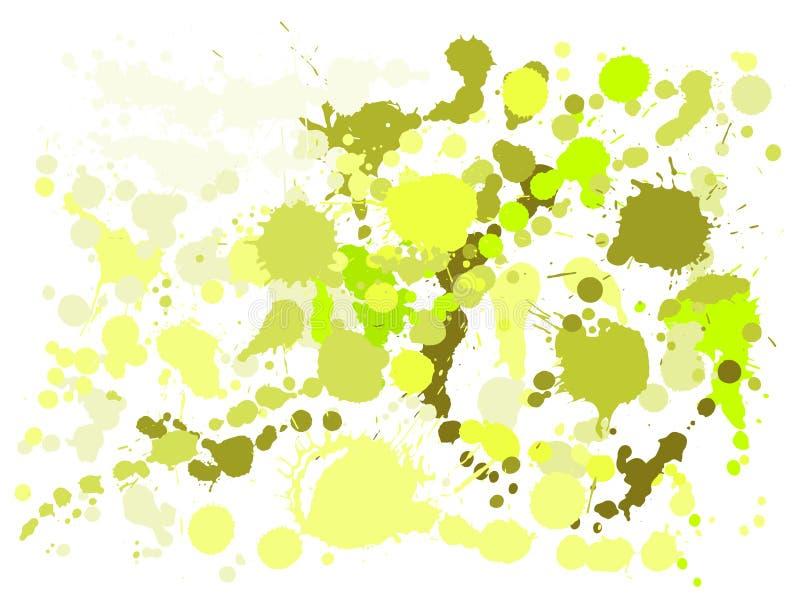 Gouachemålarfärg befläcker grungebakgrundsvektorn Kallt färgpulver plaskar, sprejfläckar, gyttjafläckbeståndsdelar, vägggrafitti stock illustrationer