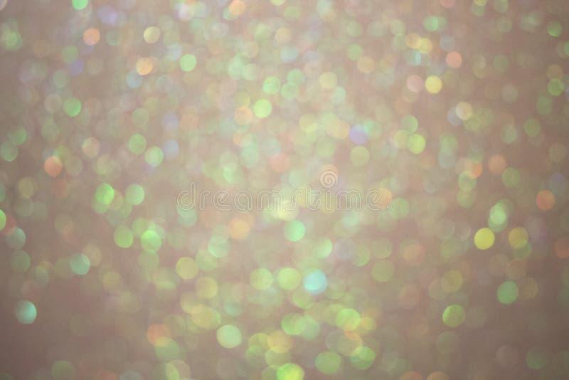 Goud bokeh, abstracte die achtergrond door neonlichten wordt gecreeerd stock fotografie