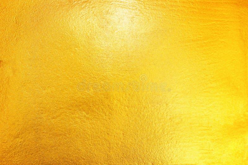 goud dat op cement en concrete textuur voor patroon en rug wordt geschilderd royalty-vrije stock afbeelding