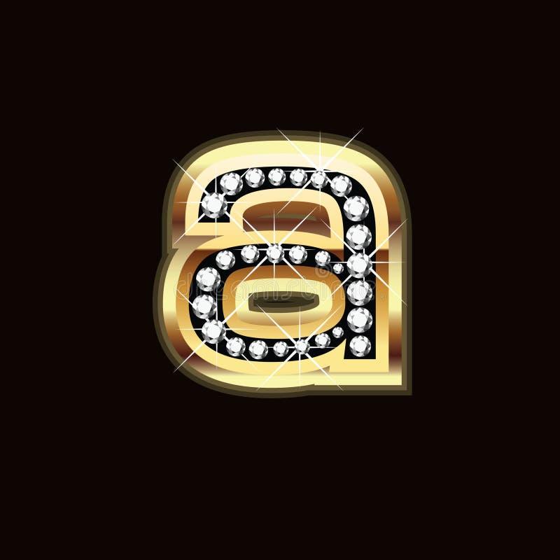 Goud en diamanten stock illustratie