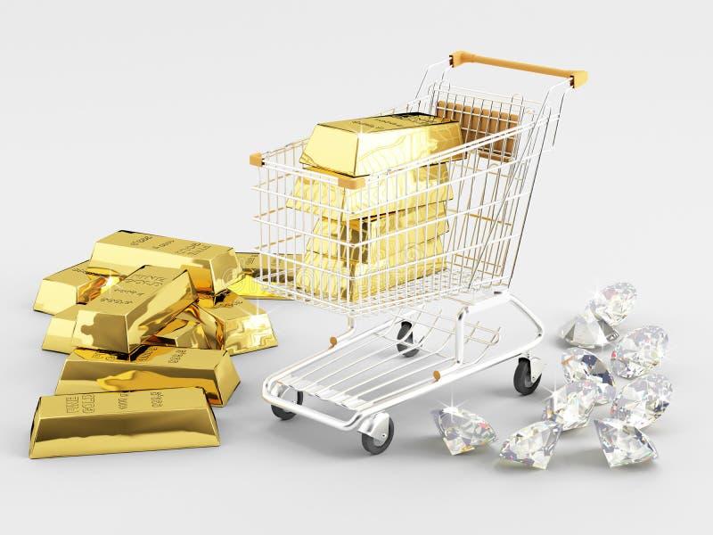 Goud en Diamanten vector illustratie