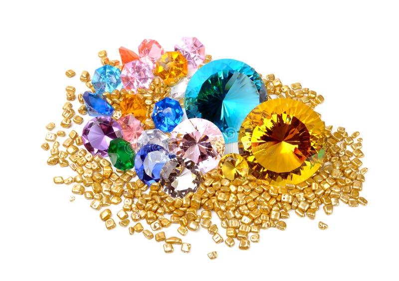 Goud en diamanten royalty-vrije stock foto's