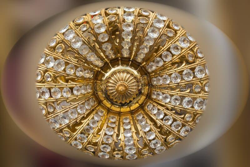 Goud en diamantencirkel stock afbeeldingen