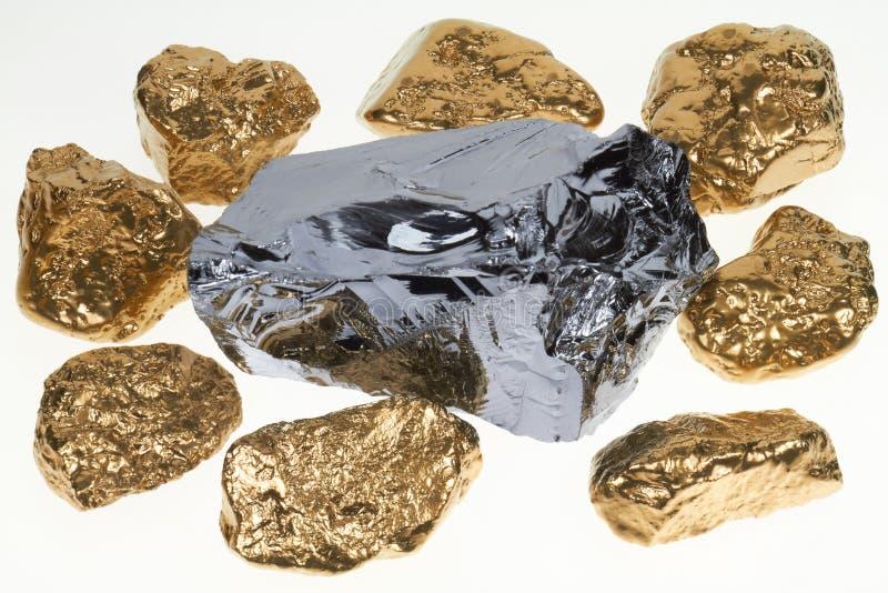 Goud en silicium stock afbeeldingen