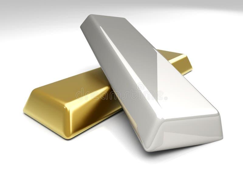 Goud en Zilver vector illustratie