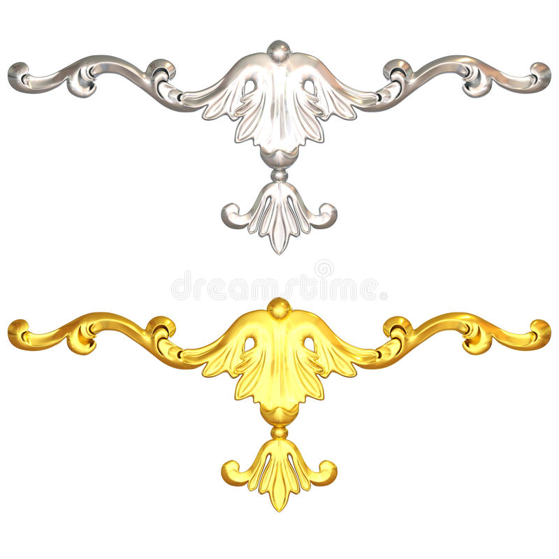Download Goud en zilver stock illustratie. Illustratie bestaande uit art - 29500322