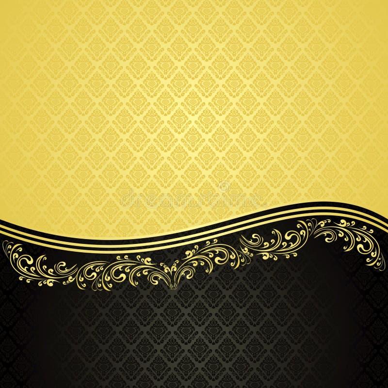 Goud en zwarte - luxeAchtergrond. stock illustratie